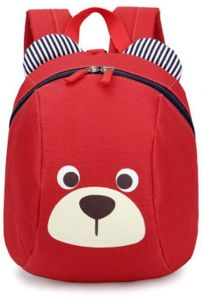 cb650861f6 Age 1-3 Toddler Backpack Kids Baby Anti-lost Bag Cute Animal Children  Kindergarten Bear Schoolbag (Red)