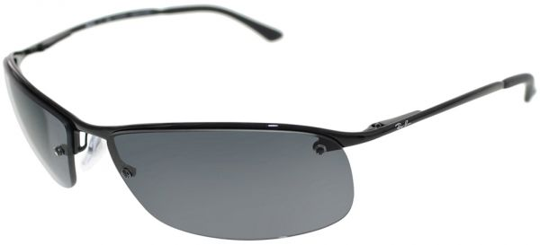 Ray-Ban Half Frame Men\'s Sunglasses - 63-15-125 mm | Souq - UAE