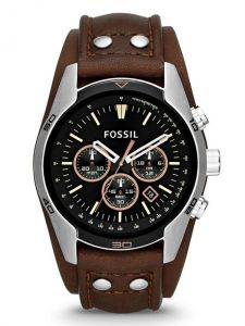 ba59ad965 Fossil Coachman Men's Black Dial Leather Band Chronograph Watch - CH2891