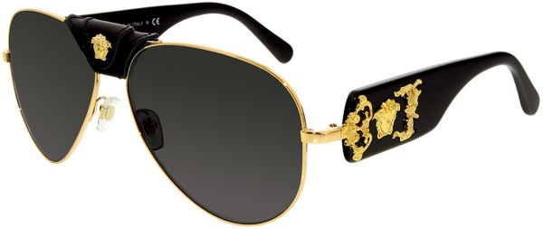 fd462336f65a Versace Aviator Men s Sunglasses - VE2150Q-100287-62 - 62-14-140 mm ...