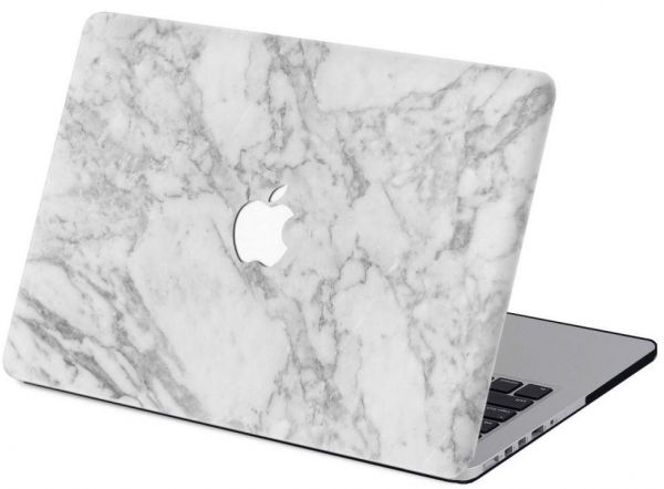 new products 28651 c4420 White Color Marble Pattern Hard Shell Case Cover For Macbook Pro 13 And  13.3 Inch