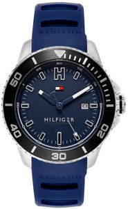 457fada195 Tommy Hilfiger Men s Blue Dial Silicone Band Watch - 1791263