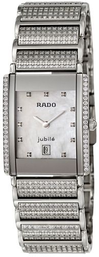 rado Women's White Mother of Pearl Dial Stainless Steel Band Watch - R20673912
