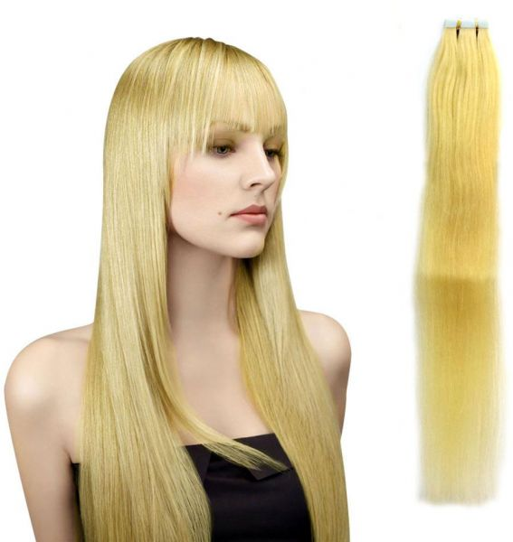 Souq Natural Blonde Human Hair Tape Extensions 24inch Uae