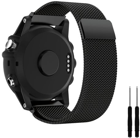 for garmin fenix 3 watch band milanese loop stainless. Black Bedroom Furniture Sets. Home Design Ideas