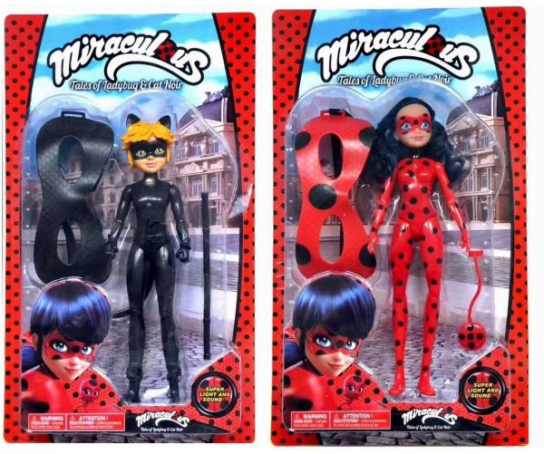 Miraculous Fashion Doll Ladybug and Cat Noir Singing dolls With ... d7a67bf1b419
