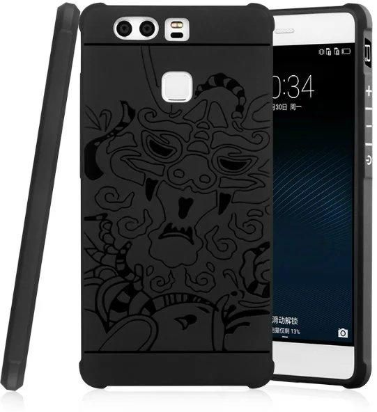 competitive price e23a1 cec76 Huawei P9 PLUS 3D Carved Dragon Shockproof Case