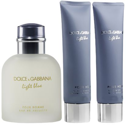 Light Blue Pour Homme Gift Set by Dolce & Gabbana for Men - Eau de Toilette, 168.5 ml, 3 Count