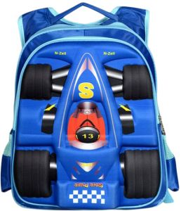 dd3180cafc20 Gifts and More 3D Racing Car 15 inch Backpack For Boys - Blue