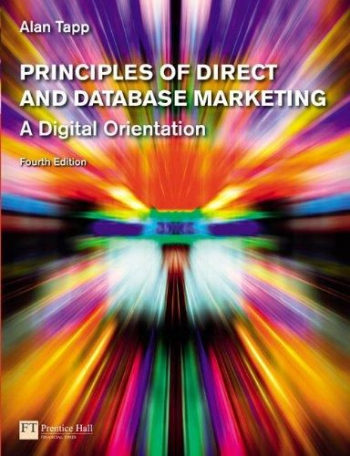 Principles of Direct and Database Marketing ,Ed. :4