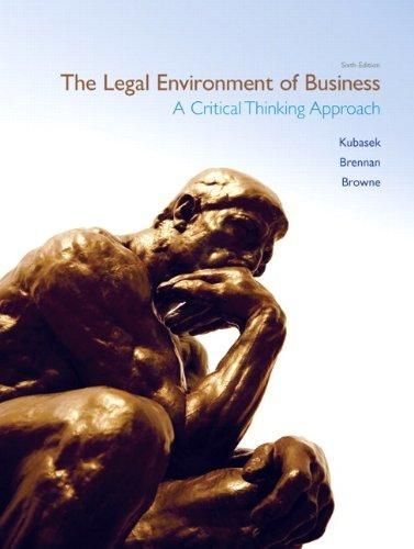 The Legal Environment of Business ,Ed. :6