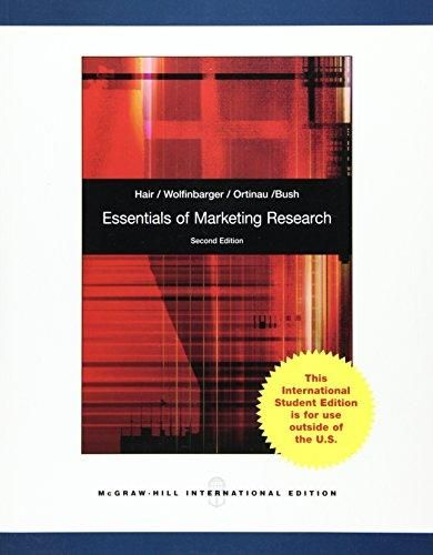 Essentials of Marketing Research ,Ed. :2