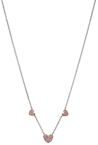 gold heart brilliance pave tone pendant amazon dp and michael necklace kors womens jewelry com open