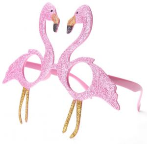 Funny Pink Flamingos Shiny Glasses Birthday Costume Party Decorations Kids Photo Booth Props Festive Supplies Accessories