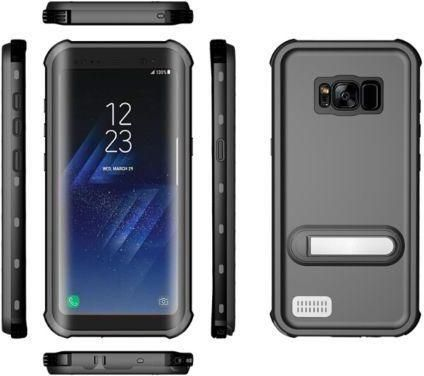 new style a1a00 b0171 Underwater Snowproof Waterproof Lifeproof Sweatproof Diving PVC Case Cover  for Samsung Galaxy S8 Plus Black Color (awd)