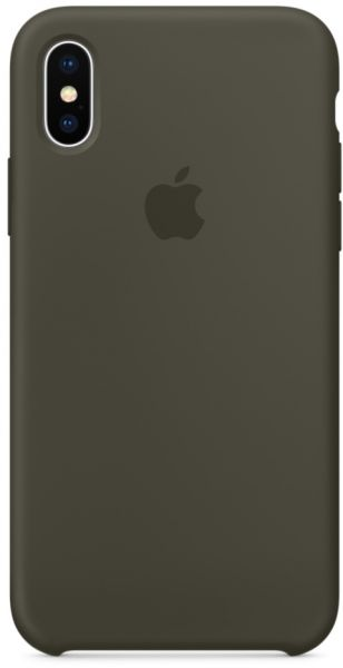 best loved b1400 6dee1 Apple iPhone X Silicone Case - Dark Olive, MR522ZM/A
