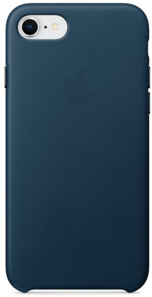separation shoes 06dd0 510eb Apple iPhone 8 / 7 Leather Case - Cosmos Blue, MQHF2ZM/A