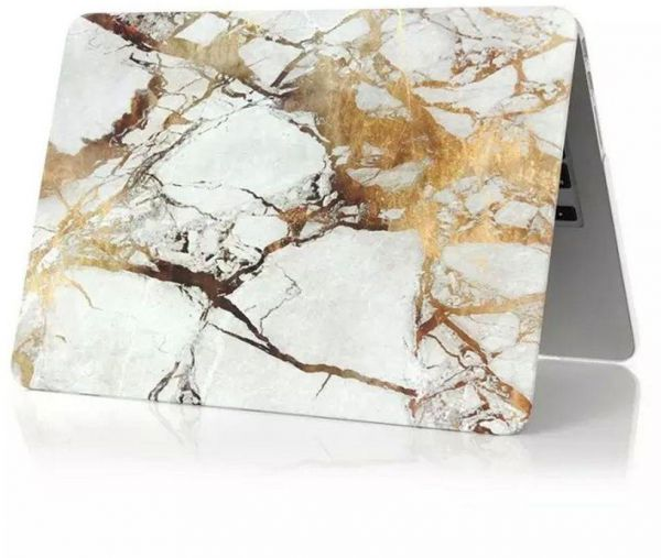 buy online 64f2c 7ec5b Gold Marble Texture Matte Hard Shell Case Cover For Apple Macbook Pro 13  And 13.3 Inch