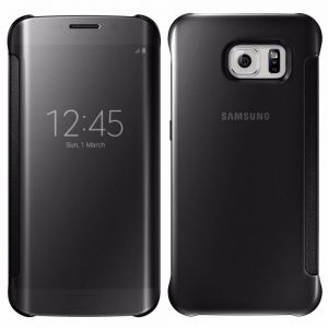 Smart Clear Mirror Case Cover Compatible with Samsung Galaxy A7 (2016) A710F, Black