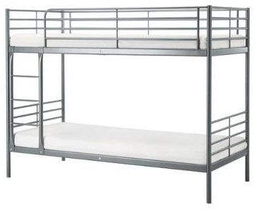 Bunk Bed Grey Color Single With Mattress Size Width 90 X Length 190