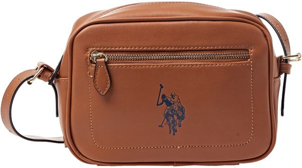 U.S. Polo Assn. Crossbody Bag for Women - Cognac  c44344fe32981