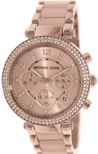 079b2cd50b49 Michael Kors Parker Women s Rose Gold Dial Stainless Steel Band Watch -  MK5896