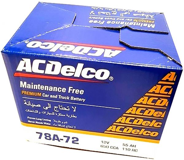 Acdelco Car Battery 78A 72