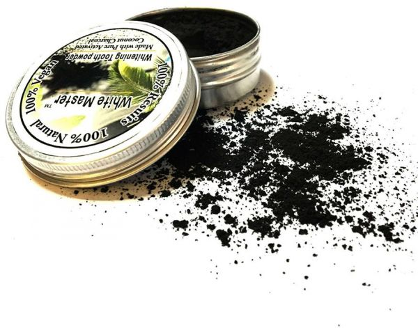 Teeth Whitening Powder Organic Activated Charcoal Smoke Coffee