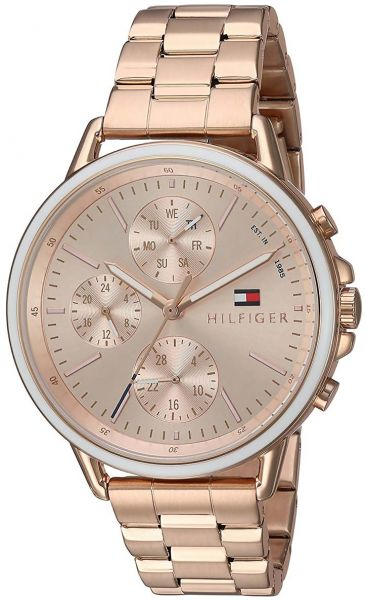 35f3442946d4 Tommy Hilfiger Carly Women s Rose Gold Dial Stainless Steel Band Watch -  1781788