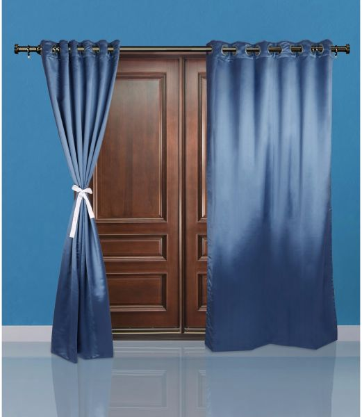 Heavy Sateen Door Curtains Solid 2 Pc Set 96 X 52 Inches