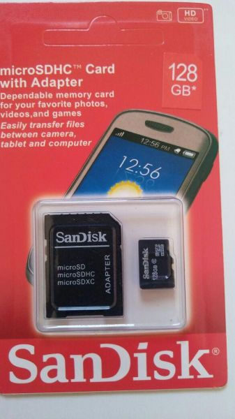 8ef897aaa35 Sandisk 128 GB Memory Card For Mobile Phones - Micro SD High ...