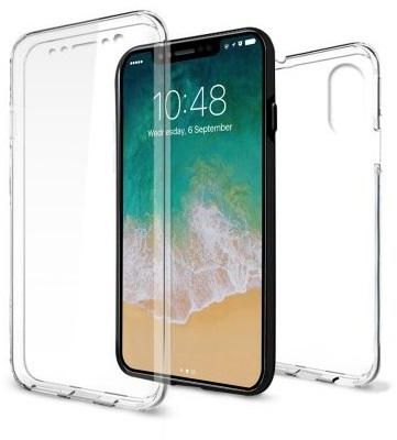 DOWIN Transparent Case For Apple iPhone X 5 8 INCH Ultrathin Clear TPU 360  Silicone Soft Cover Full Protect Phone Case