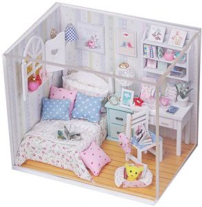 DIY Miniature Wooden Doll House Furniture Kits Toys Handmade Craft  Miniature Model Kit