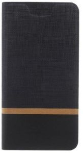 Sony Xperia L1 Texture Leather Stand Case Cover- Black.