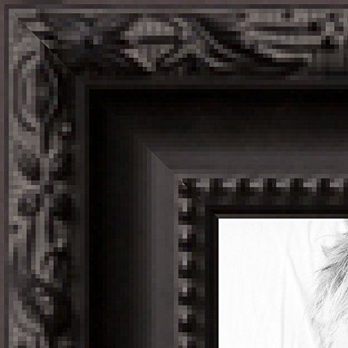 Picture Frame Black Frame with engraved edges .. 1.5\'\' wide 15 x 30 ...