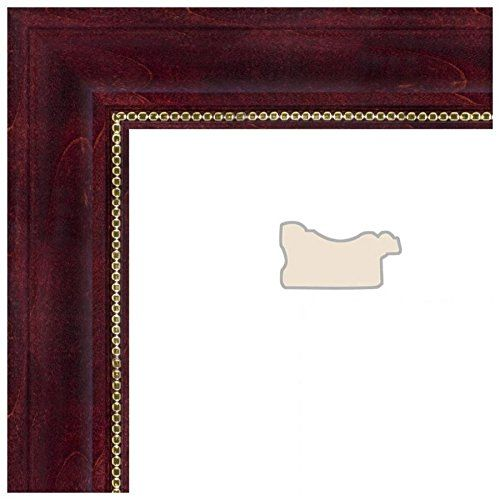Picture Frame Cherry Stain with Gold Beads .. 1.5\'\' wide 10 x 26 ...