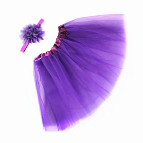 Newborn Baby Photography Prop,  Baby Tutu Skirt Bow-Knot Dress Outfits Purple 2688