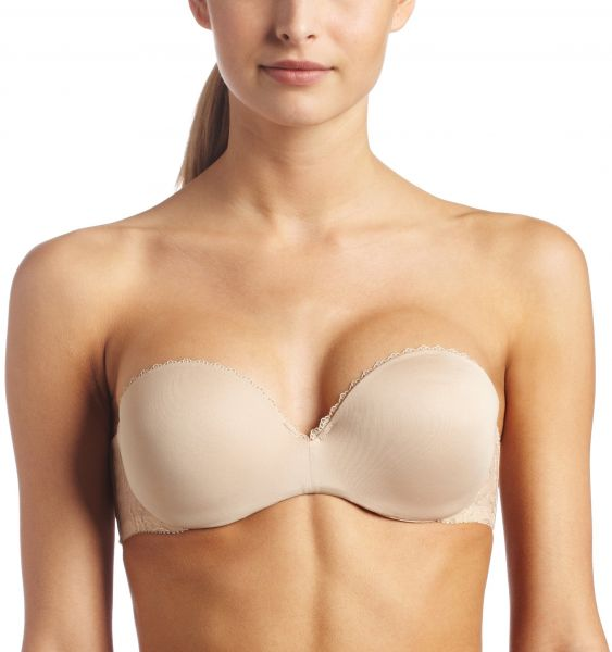 c85edadcd5 Lily of France Women s Gel Touch Strapless Push Up Bra 2111121 ...