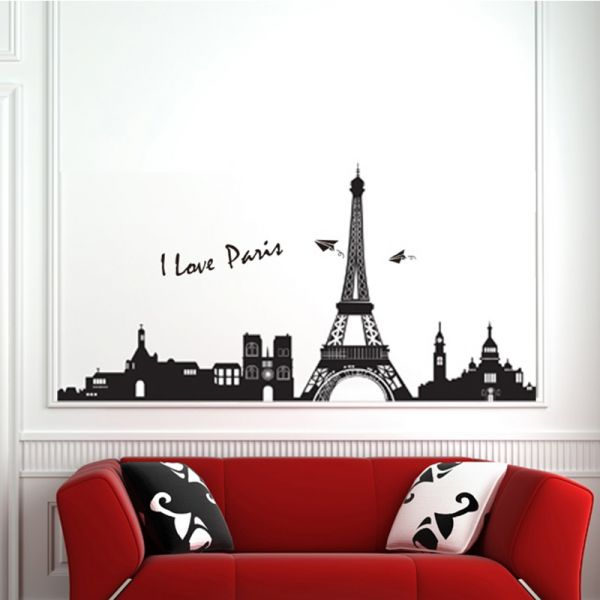 StickieArt   I Love Paris   Wall Decal   Large   60 X 90 Cm   STA 184