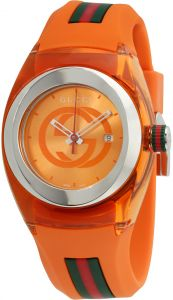 2190a90749e Gucci Sync Unisex Orange Dial Silicone Band Watch - YA137311