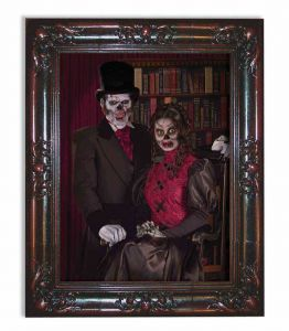 Forum Novelties Haunted Lenticular Moving Picture Frame Couple 18 X 22 Multicolor