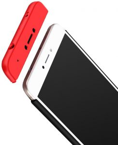 quality design 6bef5 c8ffd Xiaomi Redmi Note 4 GKK Case 360 Degree 3 in 1 Full Body Protection Hard PC  Cover - Black-Red