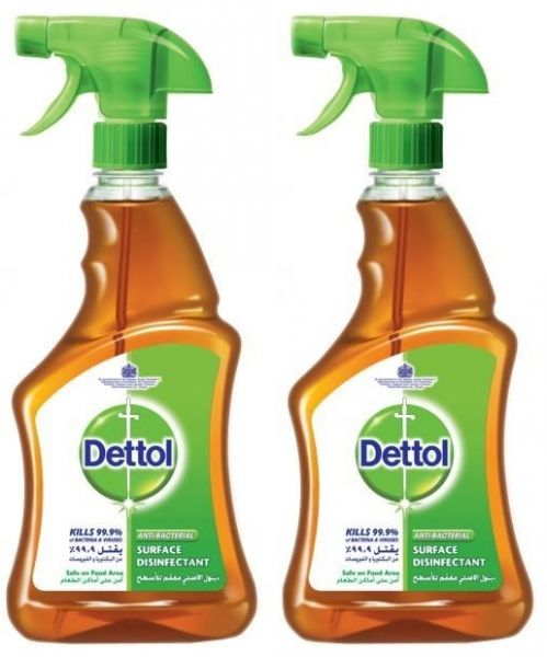 Dettol Antiseptic Disinfectant Spray Cleaner  - Pack of 2 Pcs (2 x 500ml)