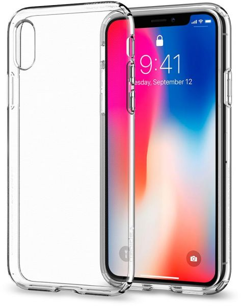 buy popular bf7fd f81e4 Spigen iPhone X Liquid Crystal cover / case - Crystal Clear
