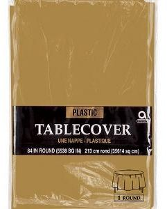 Gold Round Plastic Table Cover 84in Souq Uae