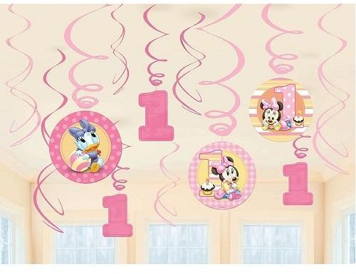 Minnie Mouse 1st Birthday Value Pack Swirl Decoration