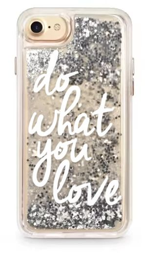 new concept 62548 8fa34 Casetify-iPHONE 7 CASE / Do What You Love glitter case