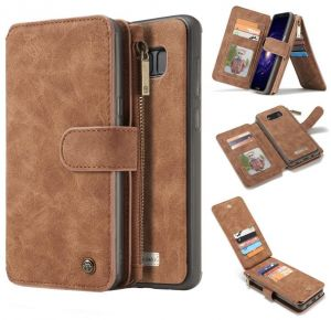 51507203ef41 Multifunction phone case for Samsung Galaxy Note 8 anti fall cover with 14  Card Slots and wallets Brown