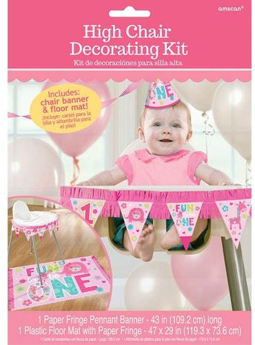One Wild Girl 1st Birthday High Chair Decorating Kit Souq Uae