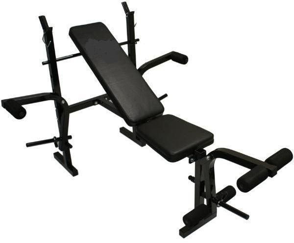 Exercise bench for versatile weights